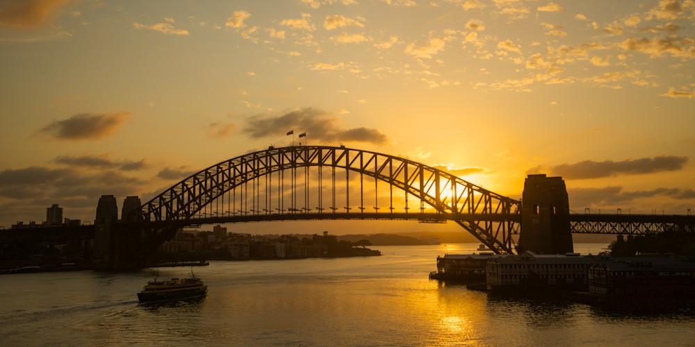 Golden Coathanger - Sydney Harbour Bridge NSW Australia | Sunrise Limited Edition