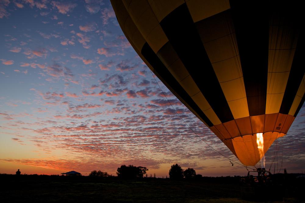 Dawn Rising - Pokolbin Hunter Valley Wine Country NSW Australia | Hot Air Balloon