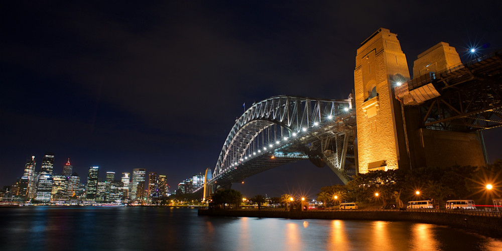 Bridge Lights - Sydney Harbour Circular Quay NSW Australia | Nightscape