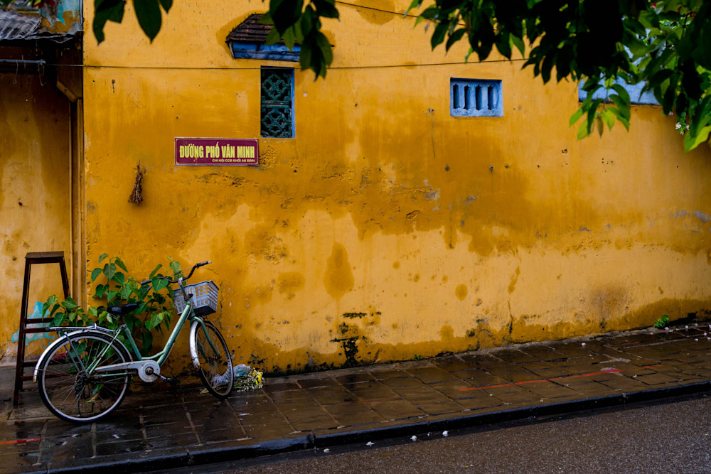 Bicycle On Yellow - Hoi An Ancient Town Quang Nam Province Vietnam