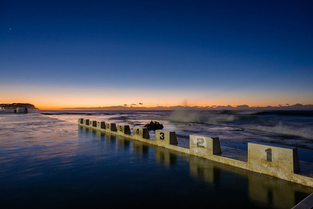 Baths Dawn - Merewether Ocean Baths Newcastle NSW Australia | Dawn Sunrise