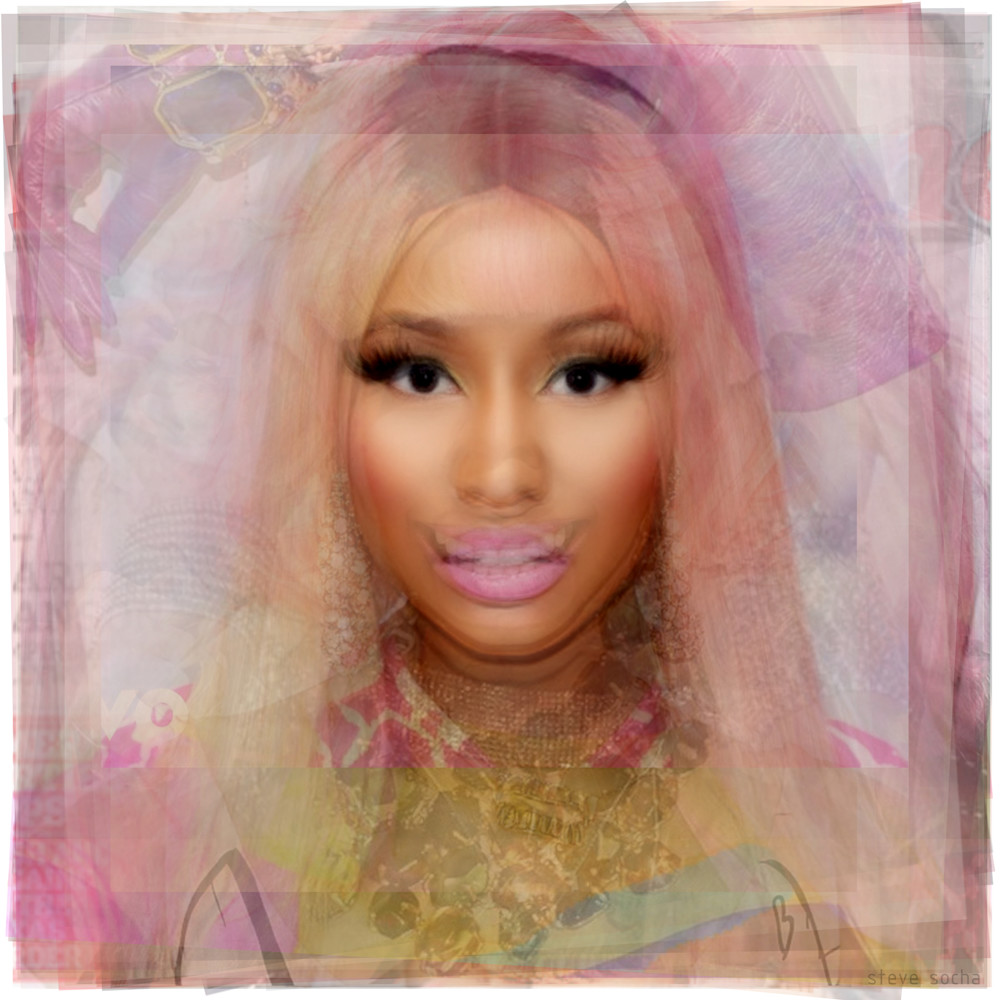 Overlay art – contemporary art prints of Nicki Minaj