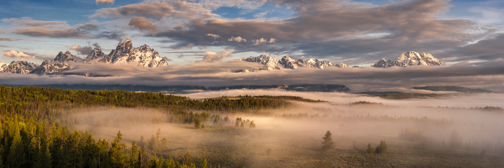 1736 Teton Mist Pano