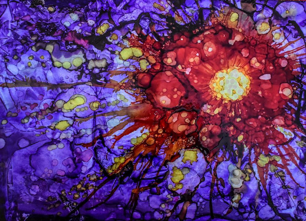 Purple, supernova, vibrant, yellow, sunburst