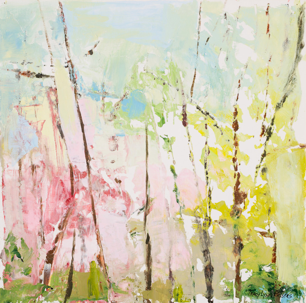 florals, soft-colors, tree-branches, abstract-trees, Jentel, prints-on-demand, pinks, spring-landscape-paintings.