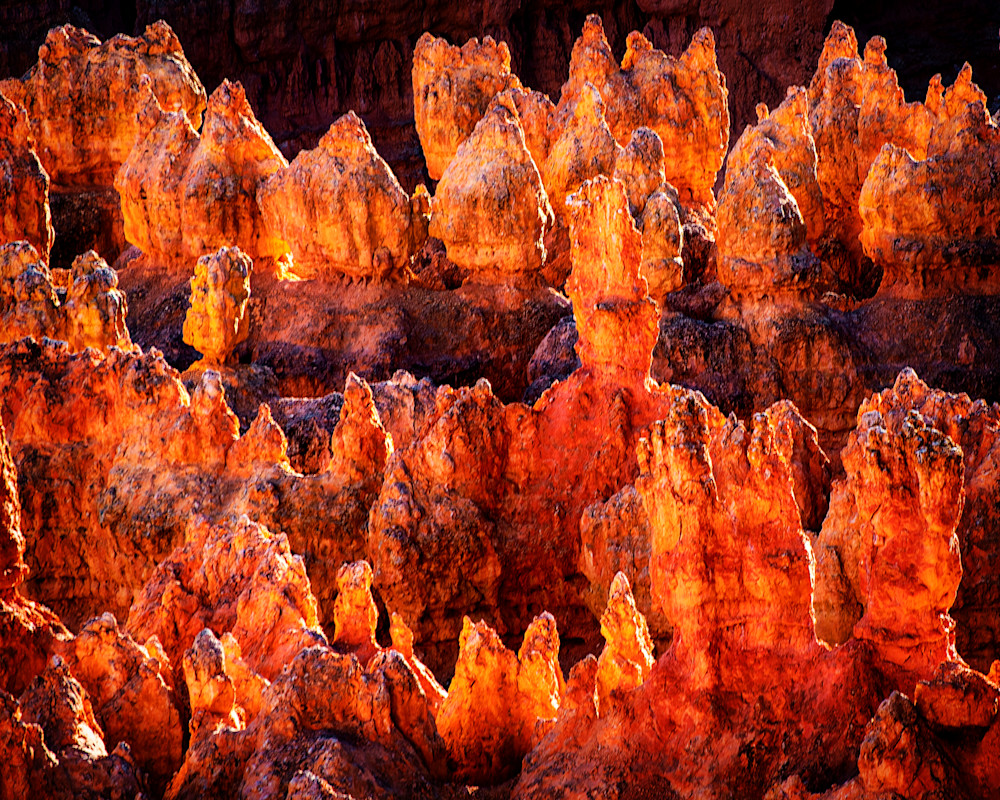 Hoodoos on fire in Bryce Canyon