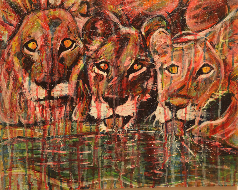 Lions At Sunset Art | simon campbell