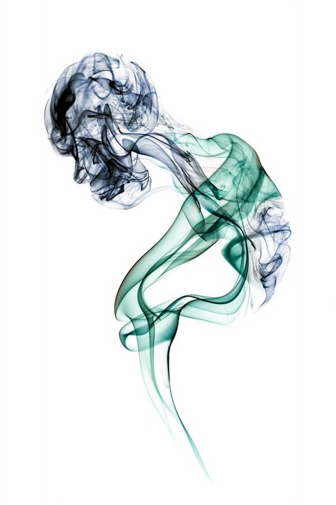 Old Woman Studio Shoot - Smoke Feine Form | Doug Hall | Abstract Art