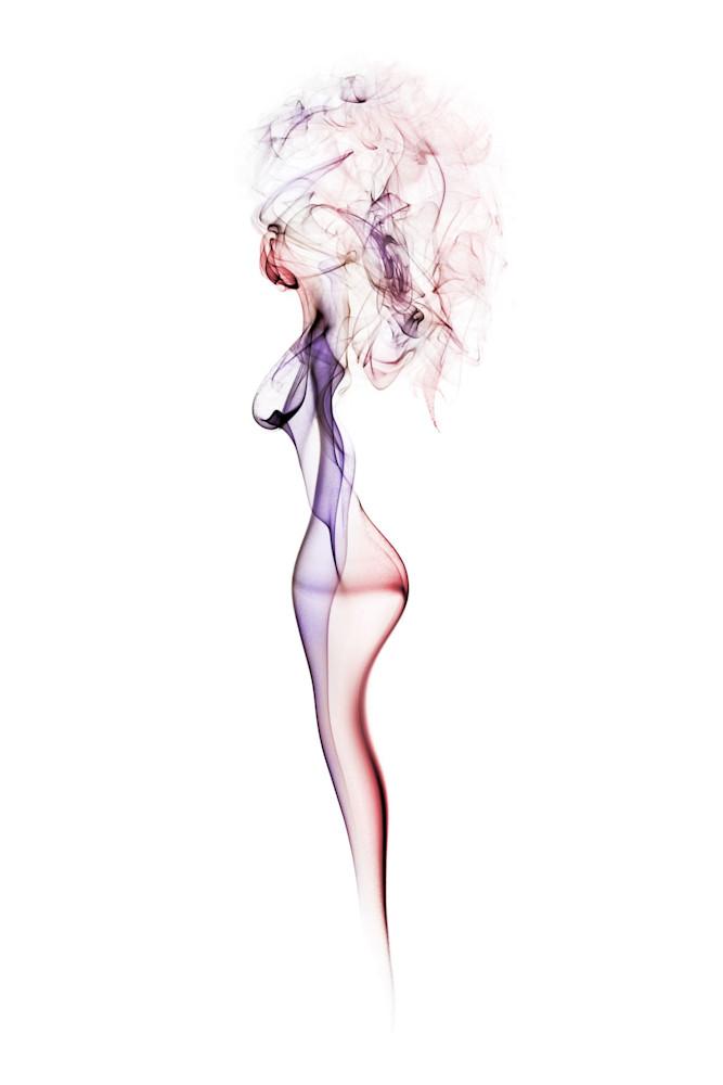 Woman With Hair Studio Shoot - Smoke Feine Form | Doug Hall | Abstract Art