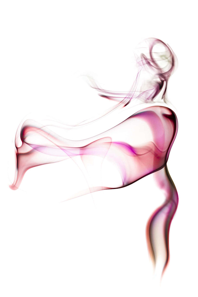 The Dancer Studio Shoot - Smoke Feine Form | Doug Hall | Abstract Art