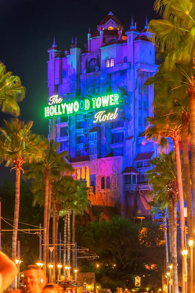 The Hollywood Tower Hotel - Disney Art Prints | William Drew
