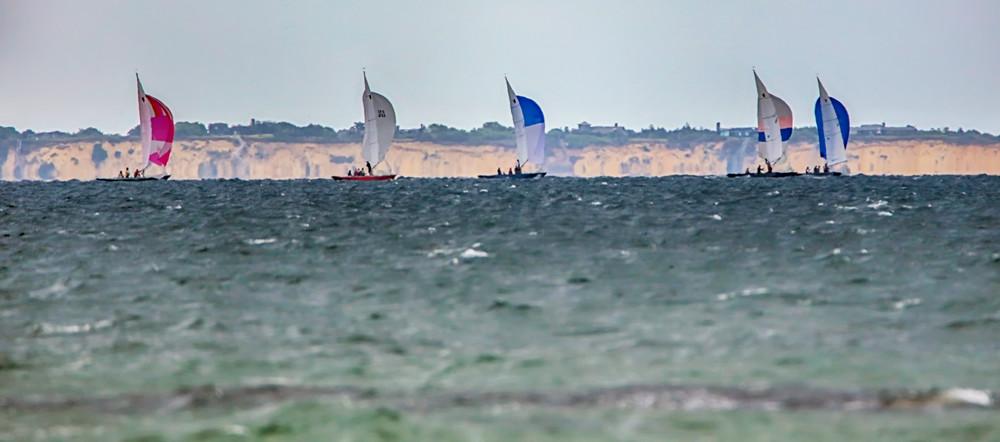 Watercolor Sailboat Race