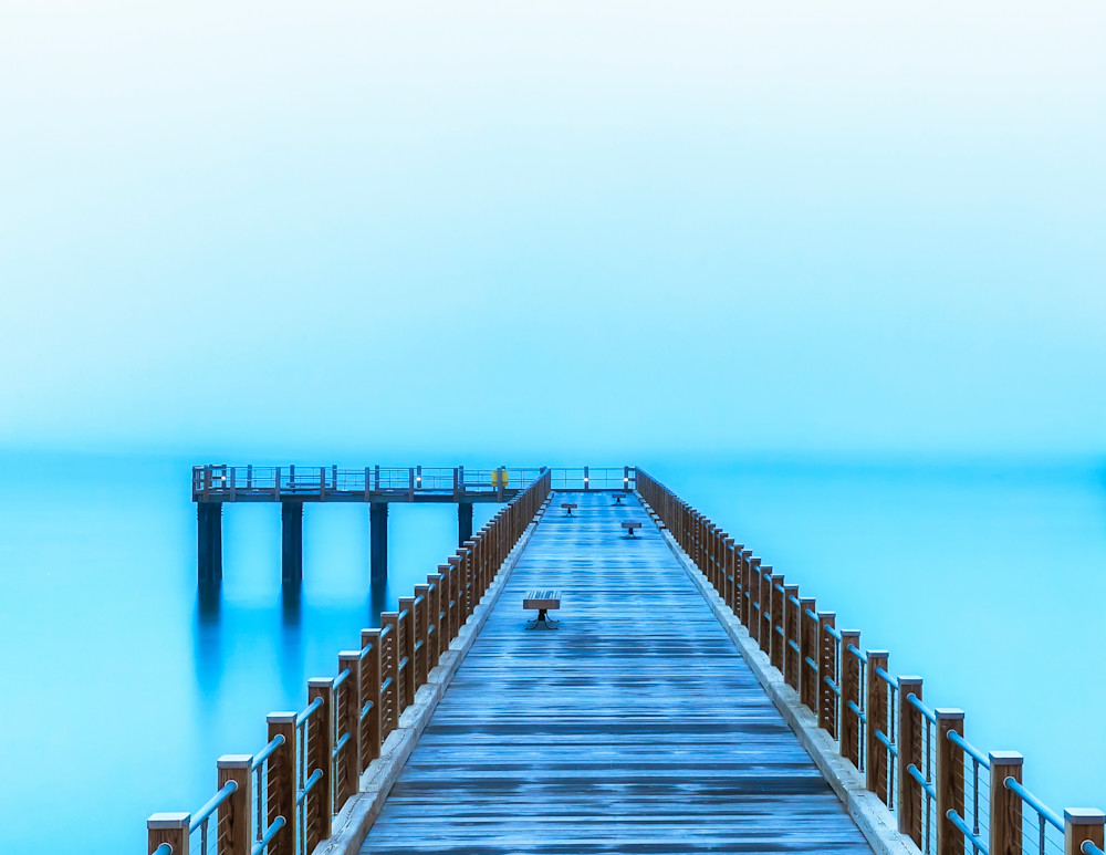 Fishing Pier Blue Morning