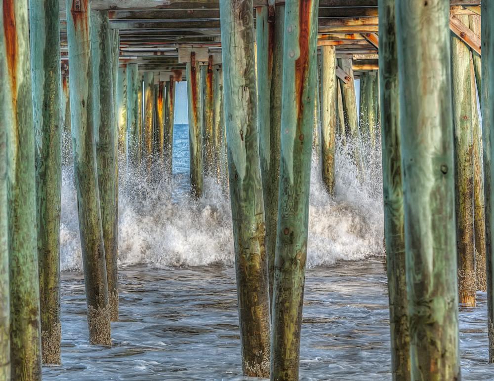 Old Orchard Beach Fishing Pier Surf Art | Michael Blanchard Inspirational Photography - Crossroads Gallery