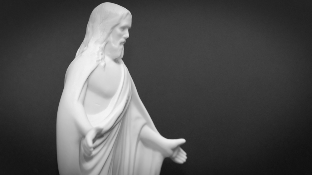 Black And White Right Side Of Jesus Photography Art | Drone Video TX