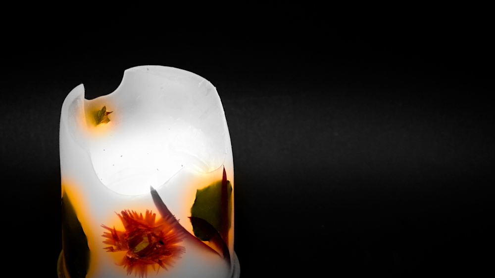 Candle   Selective Coloring Photography Art | Drone Video TX