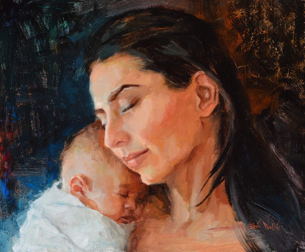 """Print of an original painting by Eric Wallis titled, """"Christchild."""""""