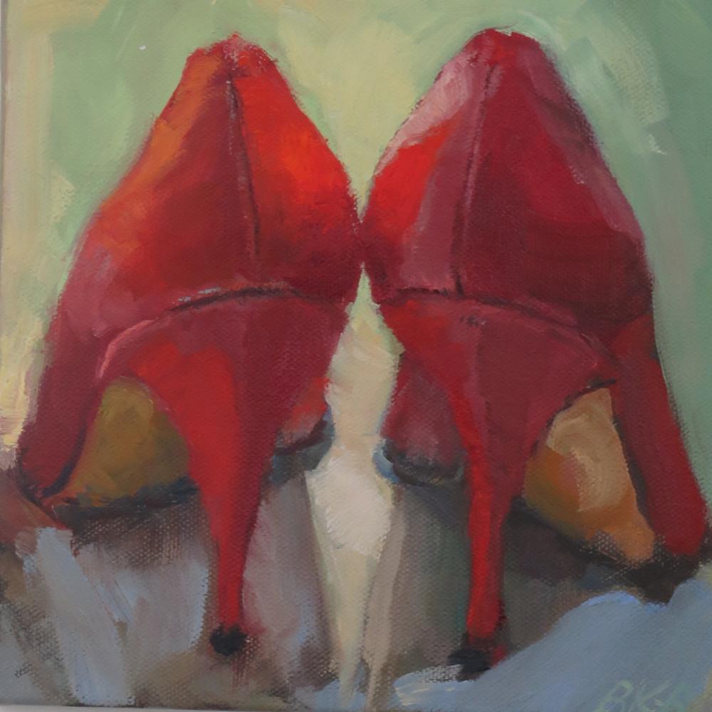 Red Shoes In Oil #1 Art | Bkern Fine Art