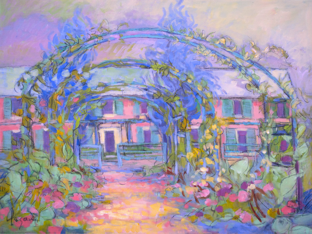 Giverny Garden Painting, Fine Art Print by Dorothy Fagan