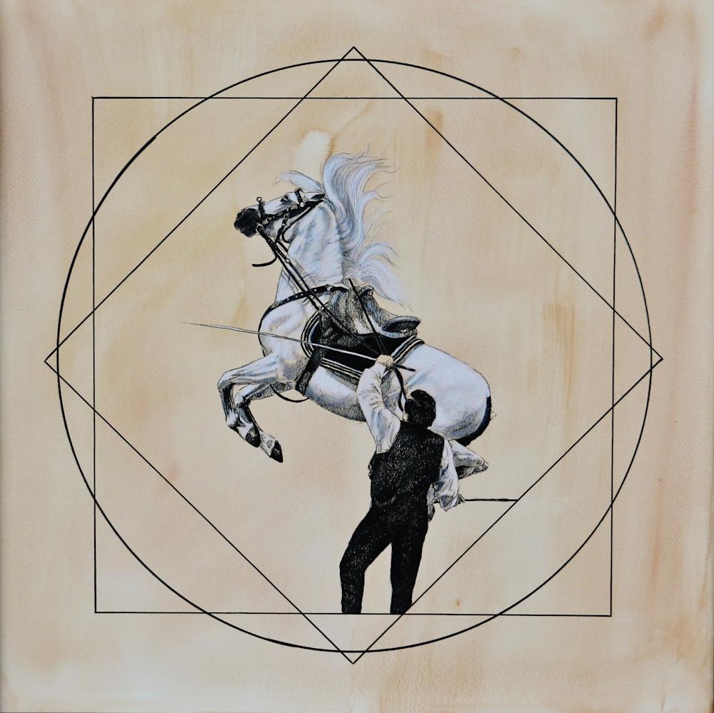 Royal Horses Capriole Art | Lauren Herr Fine Art