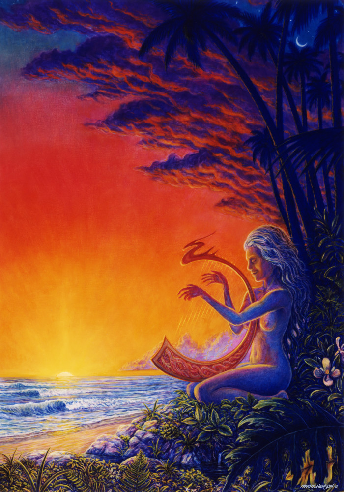 Evenong Song custom print from the original painting by Mark Henson