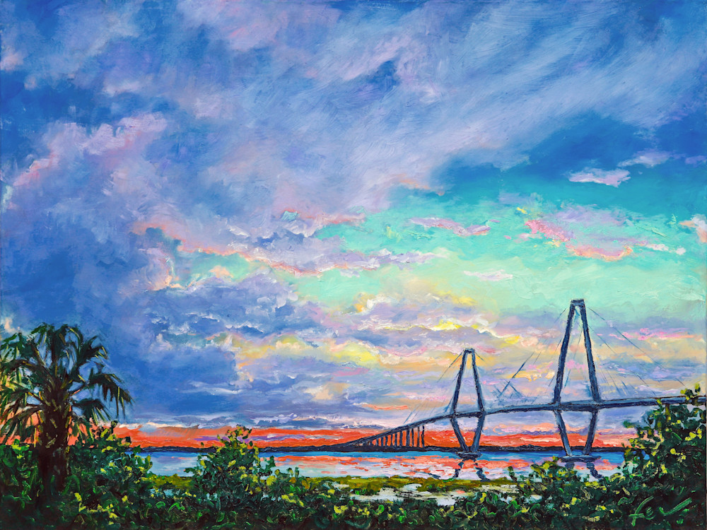 Sunset Over Ravenel Bridge