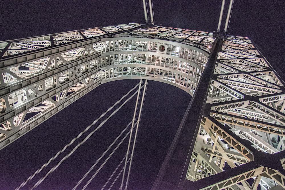 Washington Bridge Tower at night