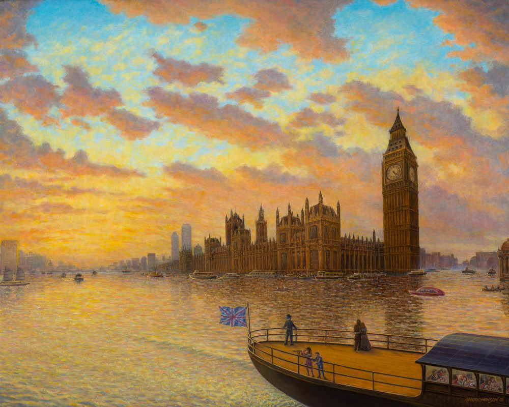 Londinium 21 custom print from the original painting by Mark Henson