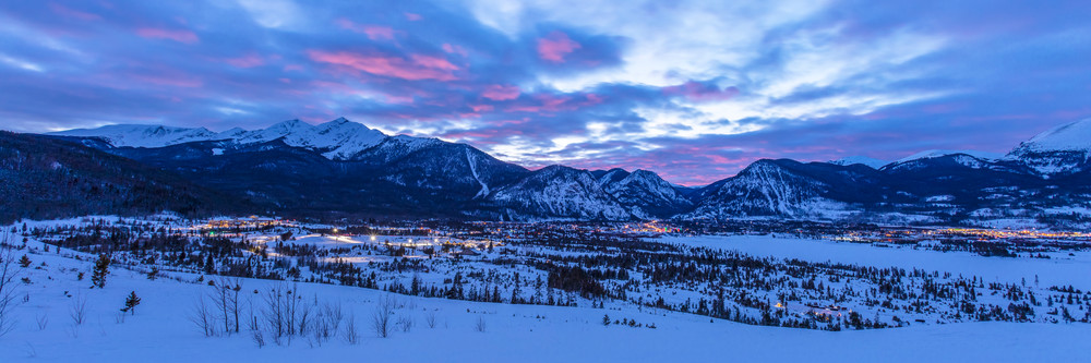 Sunset over Frisco, Colorado