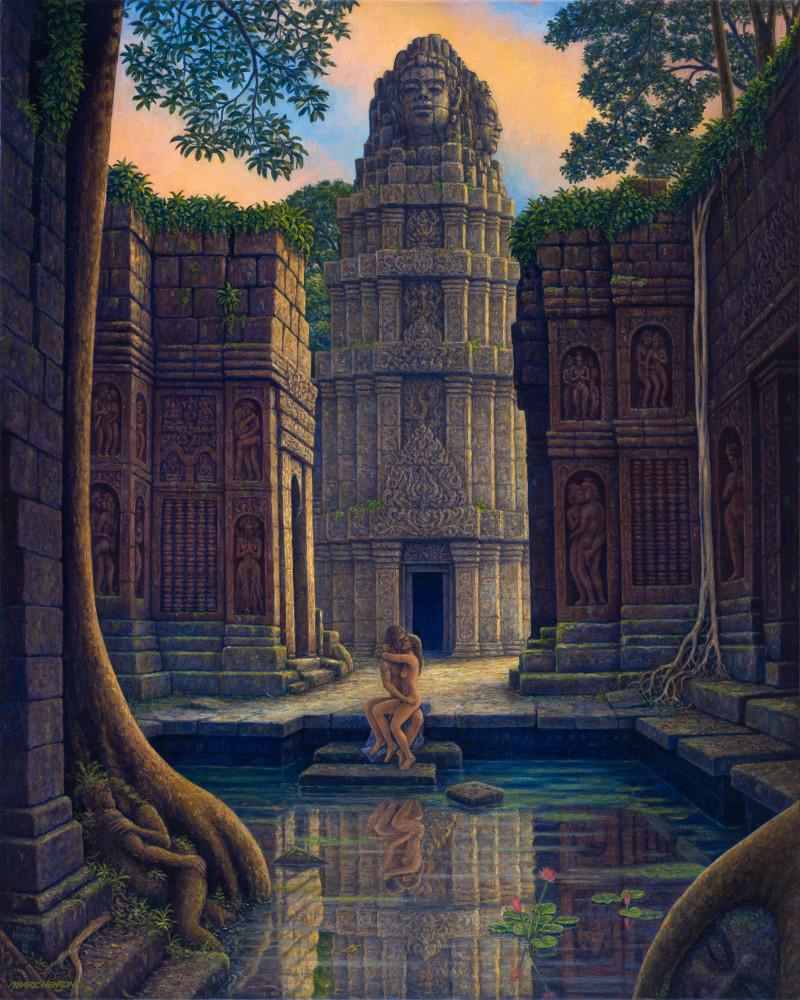 On Temple Steps Custom Print Art | markhensonart