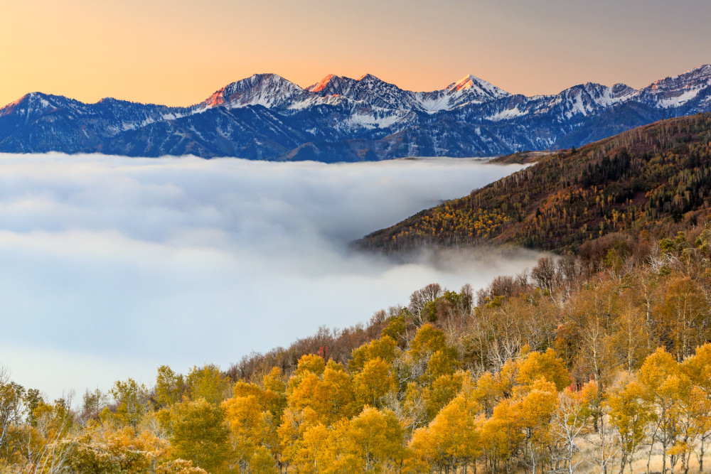 morning fog in the southern wasatch
