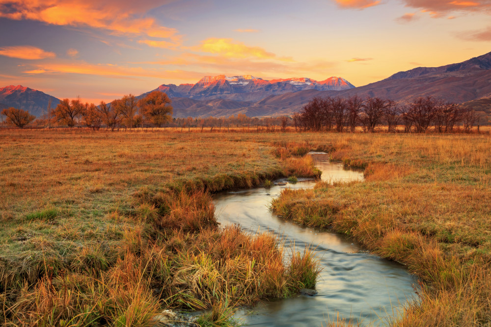October sunrise in heber valley