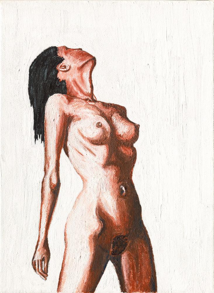 Fine Art: Woman Embracing Life | Realism Figure pose - Tufano's Gallery