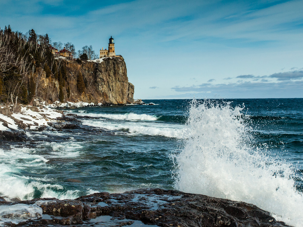 Split Rock N Waves Photography Art | Dale Yakaites Photography