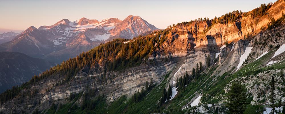 lone peak wilderness panorama