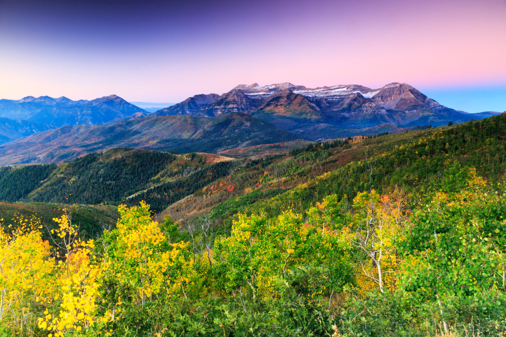 autumn sunrise in the utah mountains