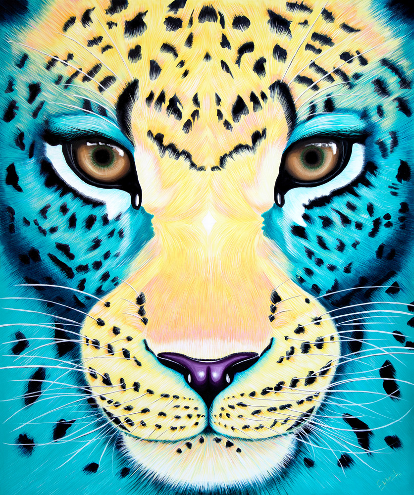Leopard Acrylic painting