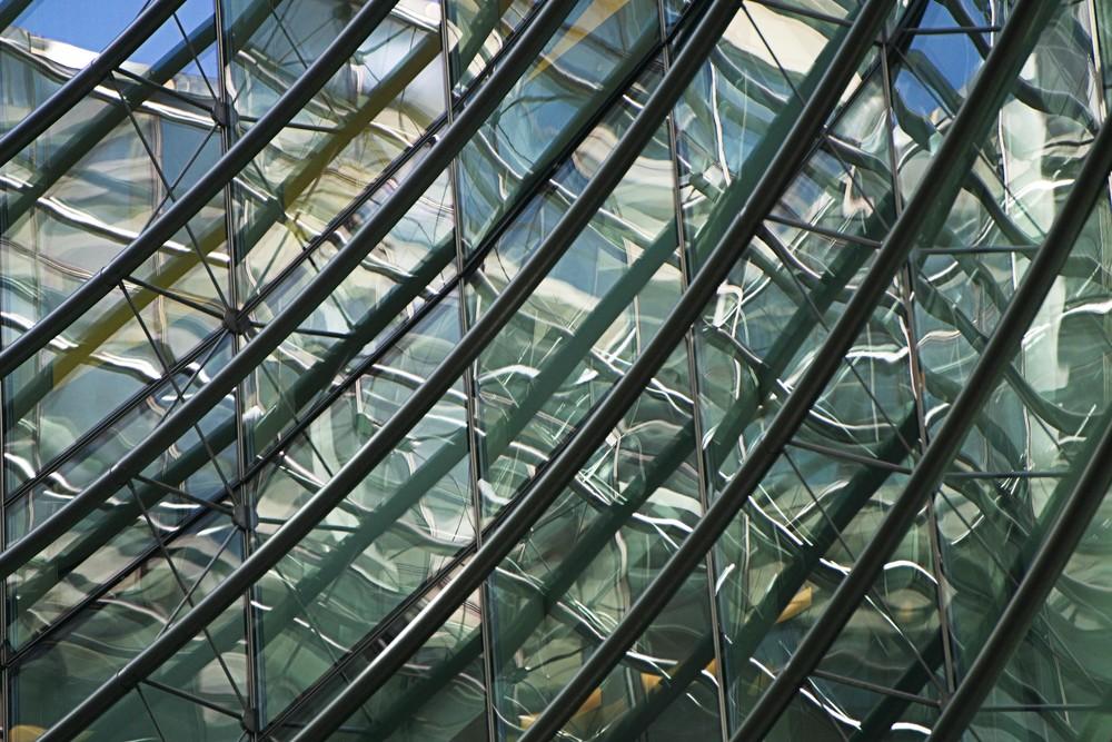 Bloomberg Court, Manhattan architectural art photograph.