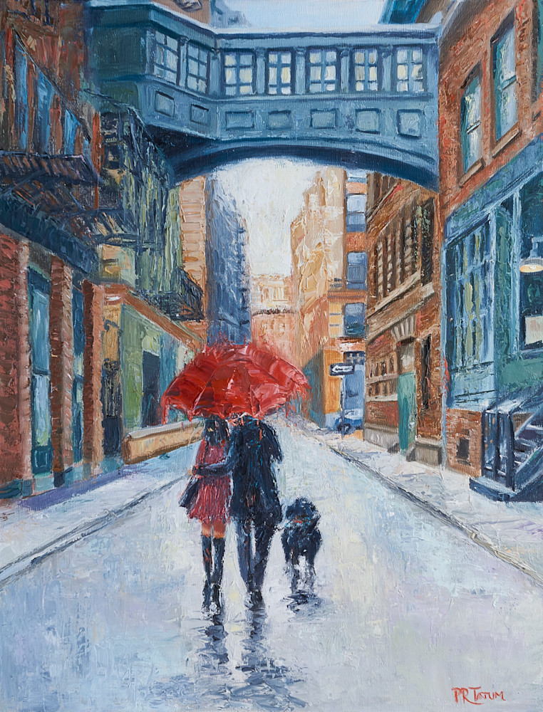 Lovers, Umbrellas, Manhattan,Tribeca, City