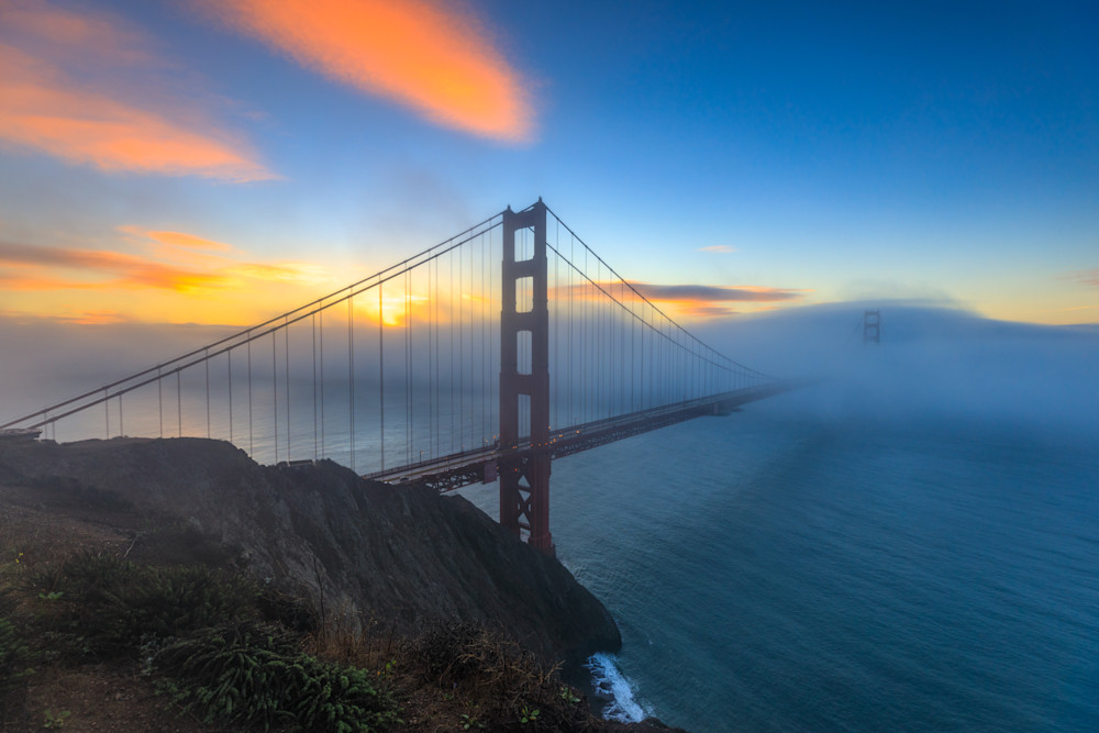 Foggy Sunrise behind the Golden Gate