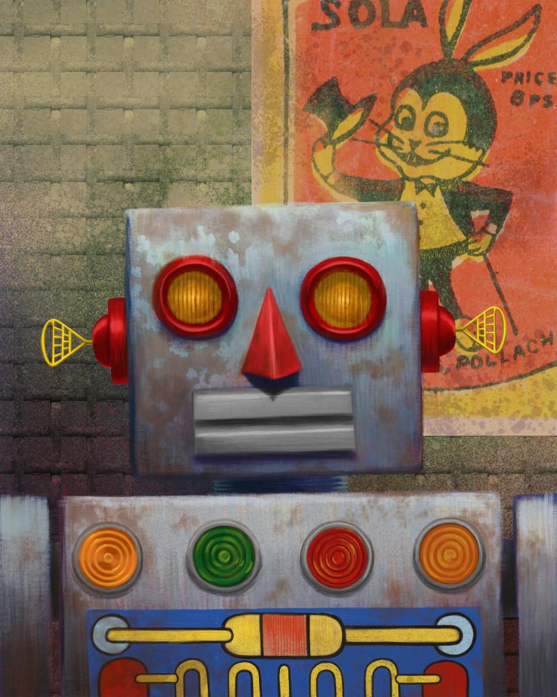 Rusty Robot And Rabbit