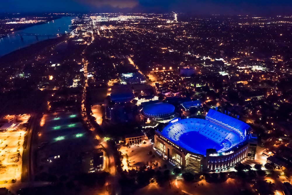 LSU blue lights