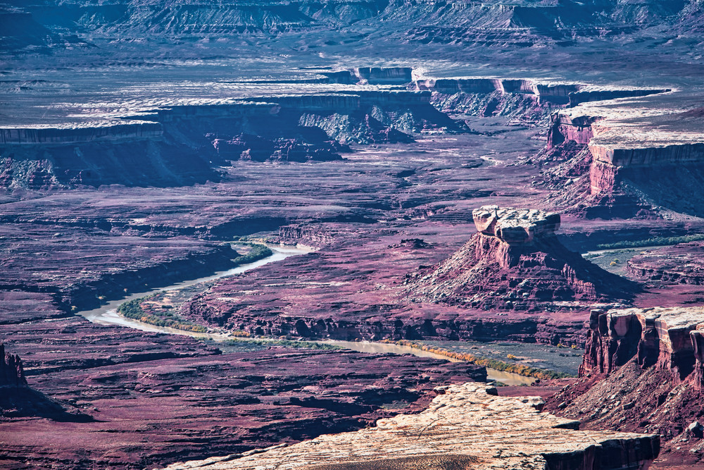 Green River moonscape photography