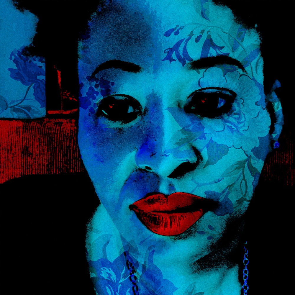 Ezinne | Blue Contemplation Art | SkotoArt