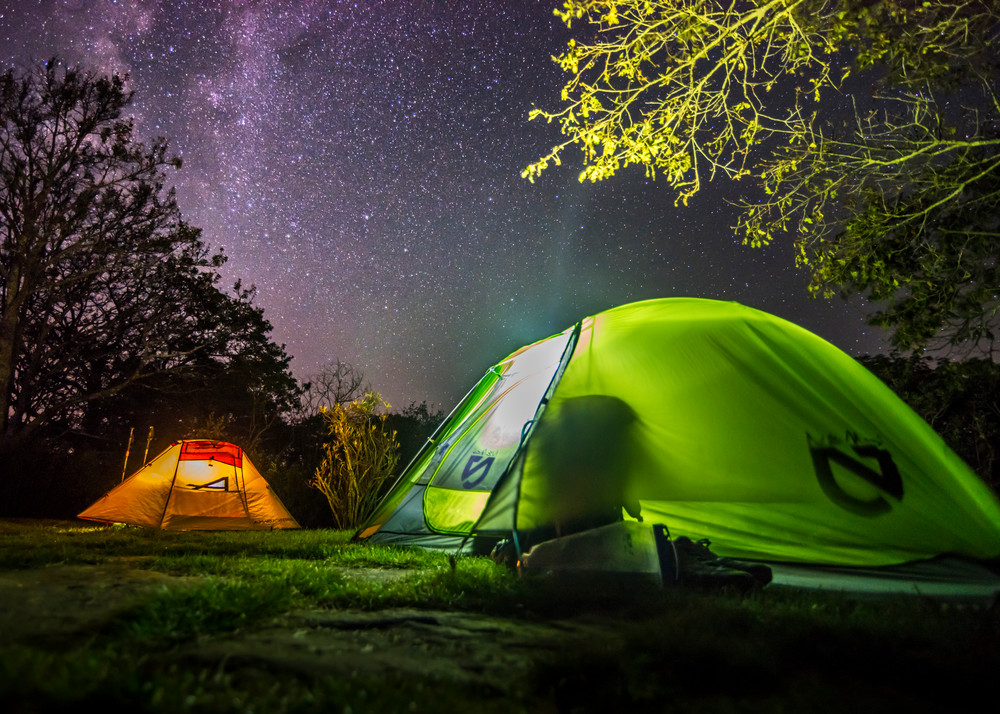 Camping beneath Milky Way