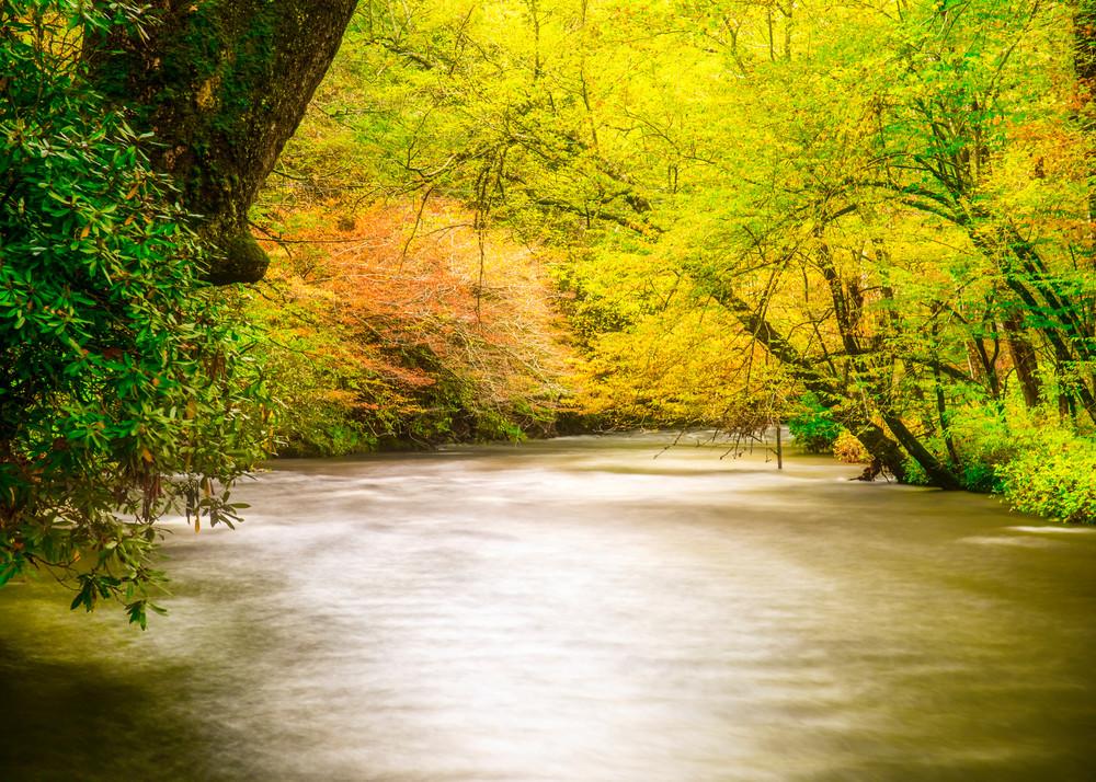 Oconaluftee River dreamy photography
