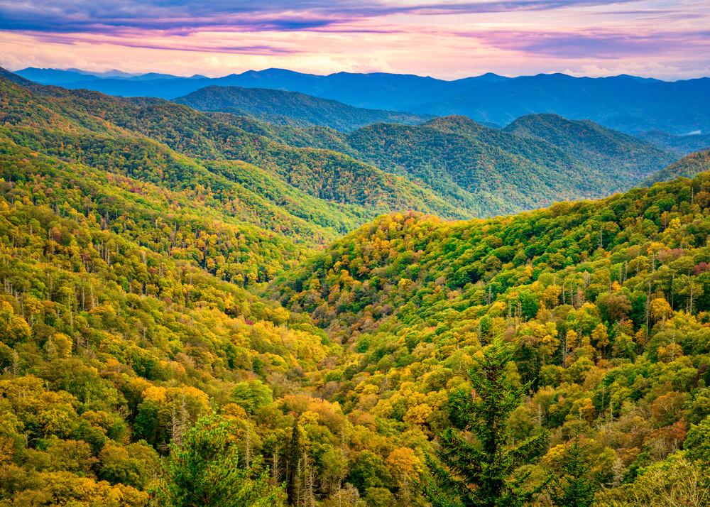 Smoky Mountain sunrise overlook photography