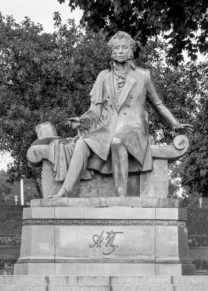 Alexander Pushkin memorial photography print