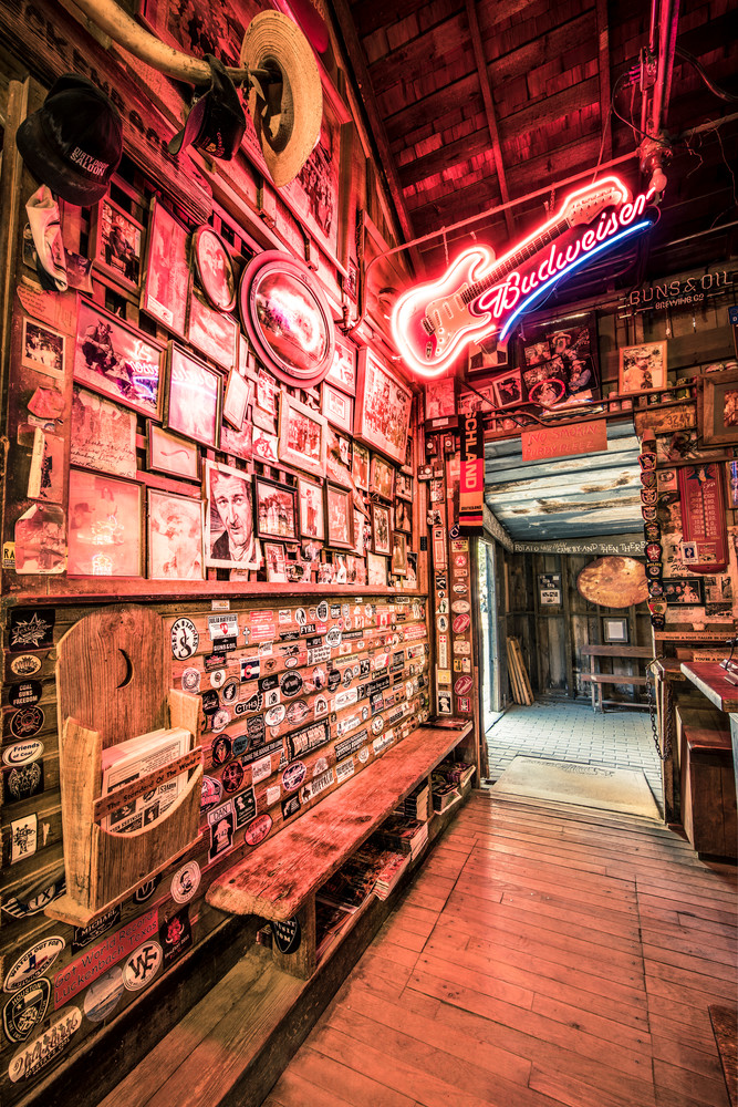 Luckenbach Texas Bar wall of fame