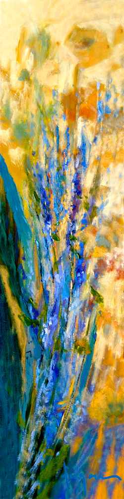 Abstract Flowers Painting Print, Perennial Light by Dorothy Fagan